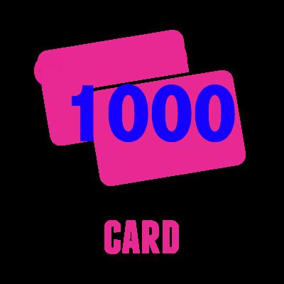 1000 Card Offset
